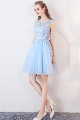 MARCIA | A-line Sleeveless Short Appliqued Top Tulle Homecoming Dresses_6