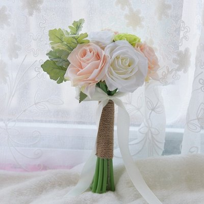 Real Touch Artificial Peony and Rose Wedding Bouquet_1