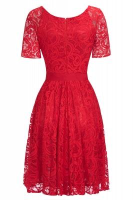 Элегантные платья с короткими рукавами V-образного вырезывания с поясом_13