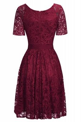 Элегантные платья с короткими рукавами V-образного вырезывания с поясом_6