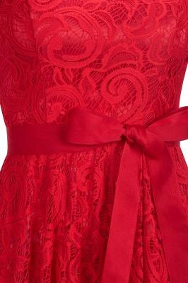 Элегантные платья с короткими рукавами V-образного вырезывания с поясом_14