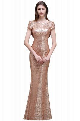 Frauen Sparkly Rose Gold Lange Pailletten Brautjungfer Kleider Prom / Abendkleider_3