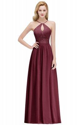 MADELEINE | Vestidos de dama de honor de espagueti largo con cuello de pico de una línea de encaje A-line_2
