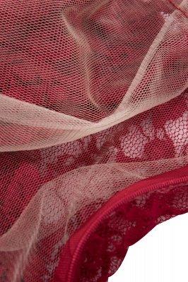 Robes A-ligne Vintage en Dentelle Bordeaux avec Manches_8