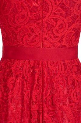 Элегантные платья с короткими рукавами V-образного вырезывания с поясом_17