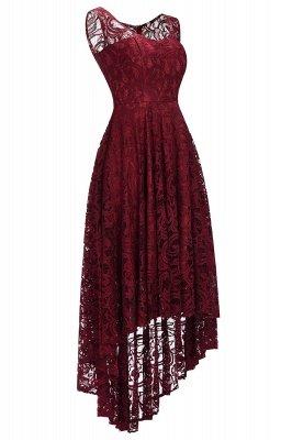 Schlichte Spitze Abendkleider Günstig   Schöne Kleider Vorne Kurz Hinten Lang_2