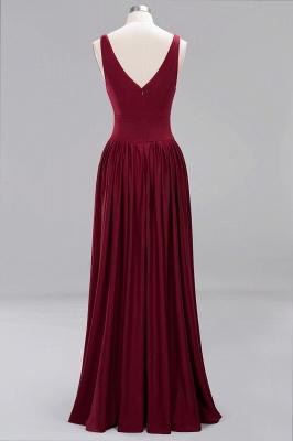Günstige Brautjungfernkleider Weinrot Lang | Kleider für Brautjungfern_6