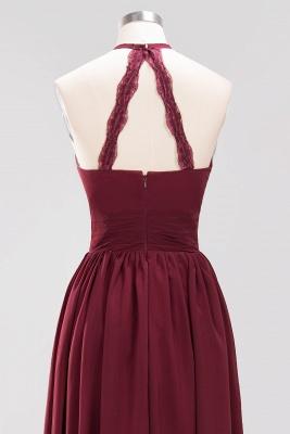 A-line Chiffon Appliques Halter Sleeveless Floor-Length Bridesmaid Dresses with Ruffles_11