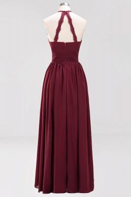 A-line Chiffon Appliques Halter Sleeveless Floor-Length Bridesmaid Dresses with Ruffles_8
