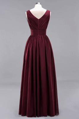 Weinrote Brautjungfernkleider Aus Chiffon | Elegantes Brautjungfer Kleid Bodenlang_10
