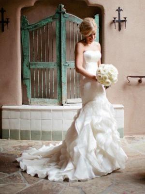 Elegante Brautkleider Meerjungfrau Lang | Schöne Abendmode Schulterfrei_4