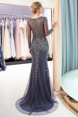MAUREEN | Mermaid V-neck Long Sleeves Sparkly Beading Evening Dresses_3
