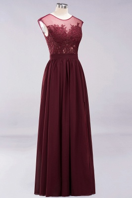A-line Chiffon Lace Jewel Sleeveless Floor-Length Bridesmaid Dresses with Appliques_10