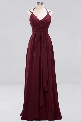 A-line Chiffon Spaghetti Straps Sleeveless Ruffles Floor-Length Bridesmaid Dresses_6