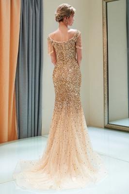 MELISSA | Mermaid Off-the-shoulder V-neck Floor Length Sequins Evening Dresses_12