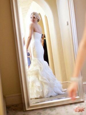 Elegante Brautkleider Meerjungfrau Lang | Schöne Abendmode Schulterfrei_3