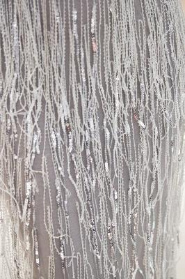 ماري حورية البحر العميق الخامس الرقبة بلا أكمام شرابة الديكور الفساتين الطرف_9