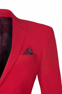 Настроить Red Two Button High Quality Back Vent Wedding Suit_3