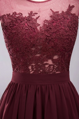 A-line Chiffon Lace Jewel Sleeveless Floor-Length Bridesmaid Dresses with Appliques_13