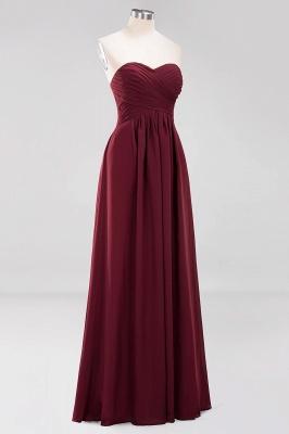 Herz Ausschnitt Braujungfernkleider Träglos | Elegantes Brautjungfer Kleid Weinrot_45