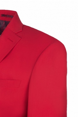 Настроить Red Two Button High Quality Back Vent Wedding Suit_4