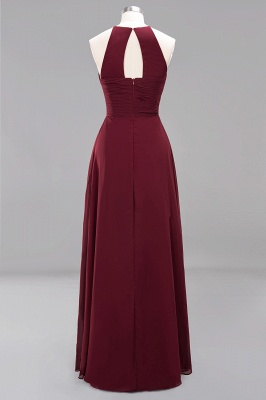 A-Line Chiffon Halter Ruffles Floor-Length Bridesmaid Dress_42