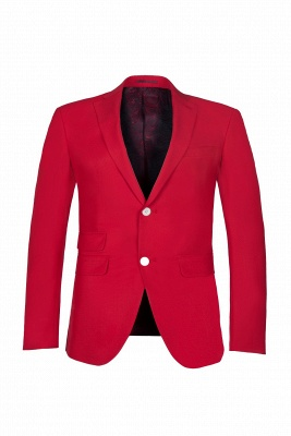 Настроить Red Two Button High Quality Back Vent Wedding Suit_1