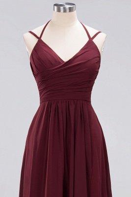 A-line Chiffon Spaghetti Straps Sleeveless Ruffles Floor-Length Bridesmaid Dresses_8