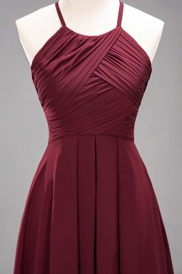 A-Line Chiffon Halter Ruffles Floor-Length Bridesmaid Dress_45