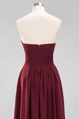A-line Chiffon Sweetheart Strapless Ruffles Floor-length Bridesmaid Dress_13