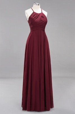 A-Line Chiffon Halter Ruffles Floor-Length Bridesmaid Dress_43
