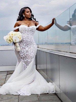 Brautmode XXL Meerjungfrau Online | Elegante Brautkleider Mit Spitze Kaufen_4