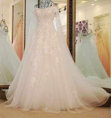 IllusionSweetheart Tulle Sleeveless Quinceanera Dress with Beadings_1