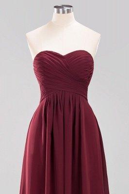 A-line Chiffon Sweetheart Strapless Ruffles Floor-length Bridesmaid Dress_12