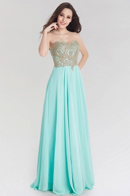 A-line Chiffon Strapless Sweetheart Sleeveless Floor-Length Bridesmaid Dress with Beadings_1