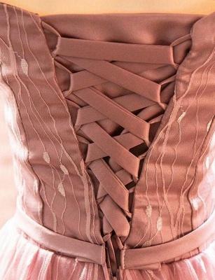 Élégante ligne manches courtes une ligne hors- la-épaule robe de retour de longueur de thé_5