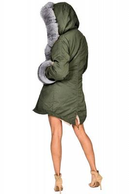 Beautiful Casual Long Sleeves Hooded Faux Fur Women Coat_4