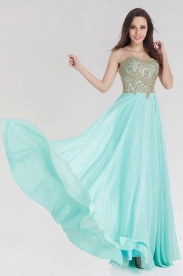 A-line Chiffon Strapless Sweetheart Sleeveless Floor-Length Bridesmaid Dress with Beadings_4
