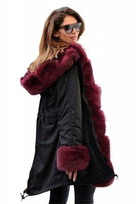 Winter Autumn Faux Fur Overcoat Hooded Parka Casual Jacket_1