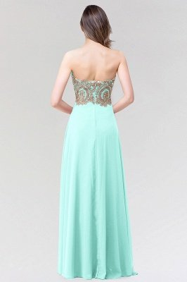 A-line Chiffon Strapless Sweetheart Sleeveless Floor-Length Bridesmaid Dress with Beadings_2