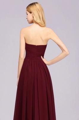 A-line Chiffon Sweetheart Strapless Ruffles Floor-length Bridesmaid Dress_8