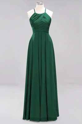 A-Line Chiffon Halter Ruffles Floor-Length Bridesmaid Dress_30