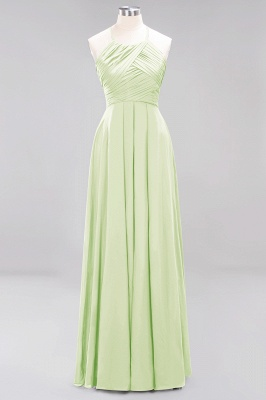A-Line Chiffon Halter Ruffles Floor-Length Bridesmaid Dress_33