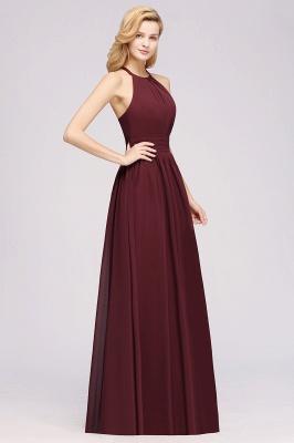 A-line Chiffon Appliques Halter Sleeveless Floor-Length Bridesmaid Dresses with Ruffles_4