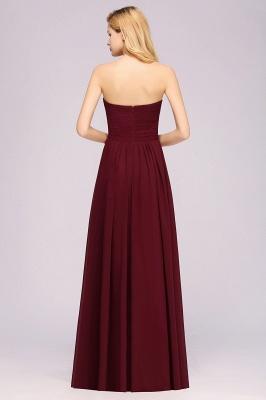 Herz Ausschnitt Braujungfernkleider Träglos | Elegantes Brautjungfer Kleid Weinrot_36