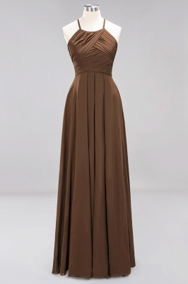 A-Line Chiffon Halter Ruffles Floor-Length Bridesmaid Dress_12