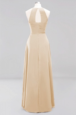 A-Line Chiffon Halter Ruffles Floor-Length Bridesmaid Dress_14