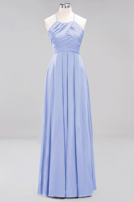 A-Line Chiffon Halter Ruffles Floor-Length Bridesmaid Dress_21