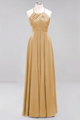 A-Line Chiffon Halter Ruffles Floor-Length Bridesmaid Dress_13