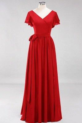 Elegante Brautjungfernkleider Mit Schlitz   Schlichtes Brautjungfer Kleid Online Kaufen_8